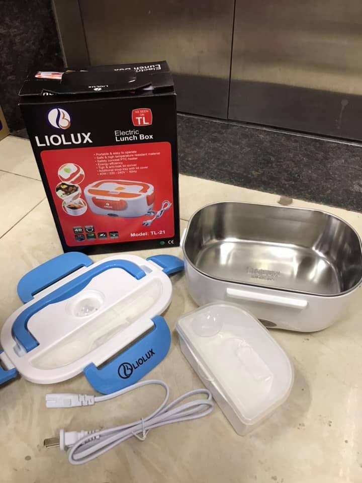 Hộp cơm hâm nóng ruột inox cắm điện liolux