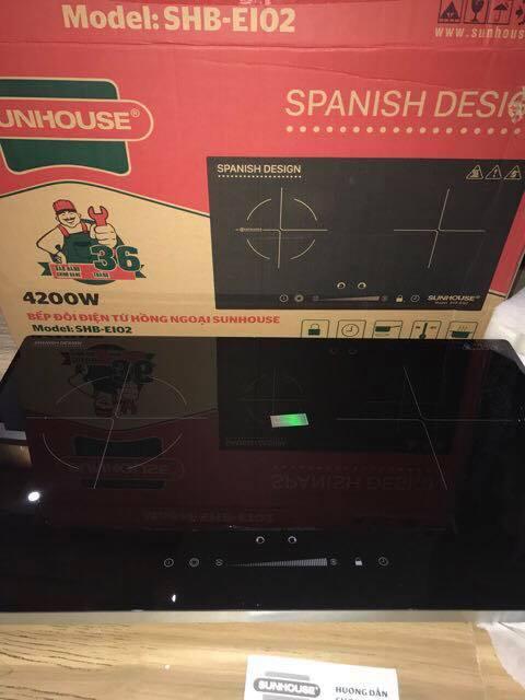 Bếp đôi điện từ hồng ngoại Sunhouse SHB-EI02