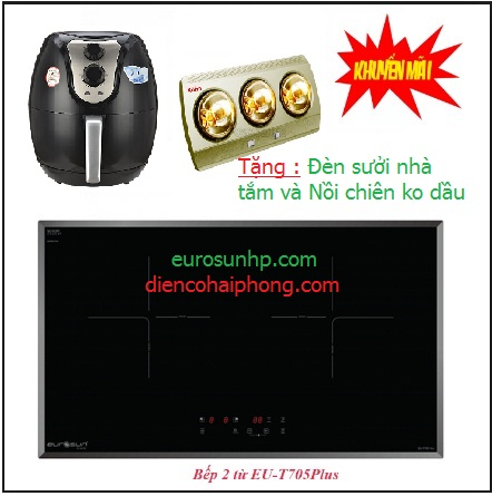 Bếp từ đôi Eurosun EU-T705 Plus ( quà tặng 2tr )