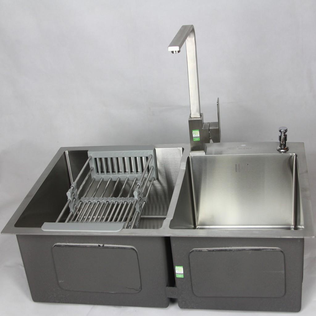 Combo Chậu Vòi rửa bát Sus304 Korea 8245 và Pieno P2851
