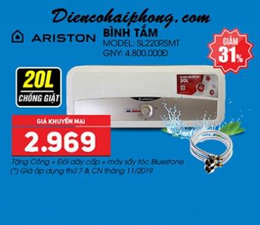 Bình Nóng Lạnh Ariston SLim2 20R 20 Lít