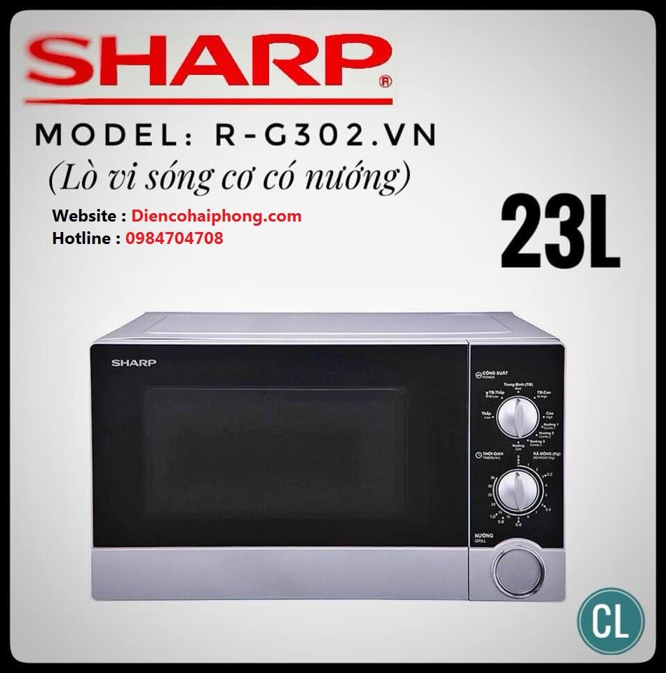 Lò Vi Sóng Có Nướng Sharp R-G302VN-S - 23 Lít
