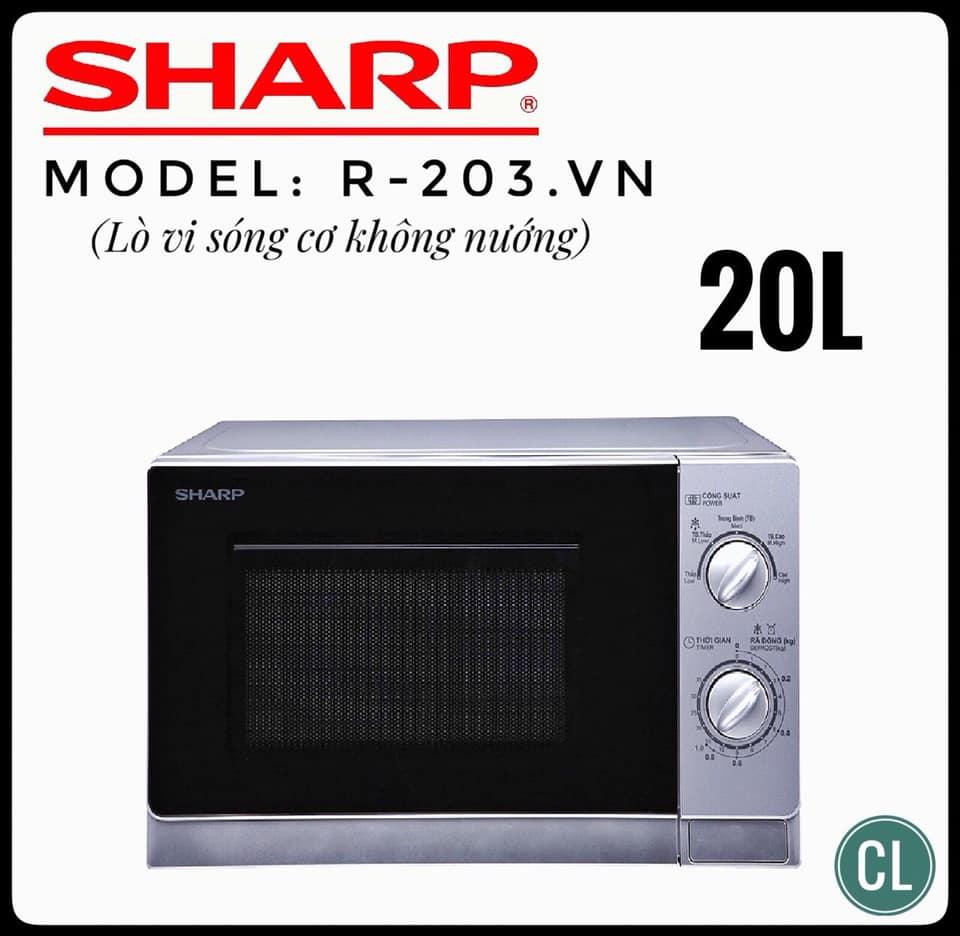 Lò Vi Sóng Sharp R-202VN-S (20L)
