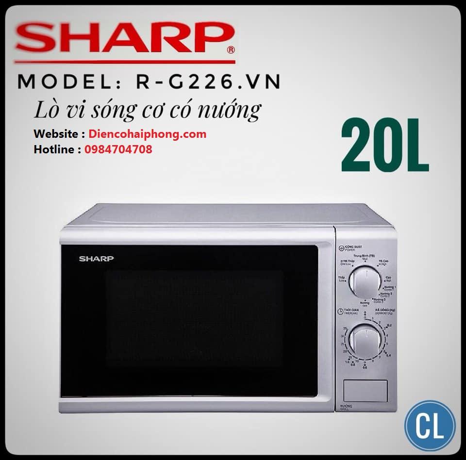 Lò vi sóng có nướng Sharp R-G226VN-S