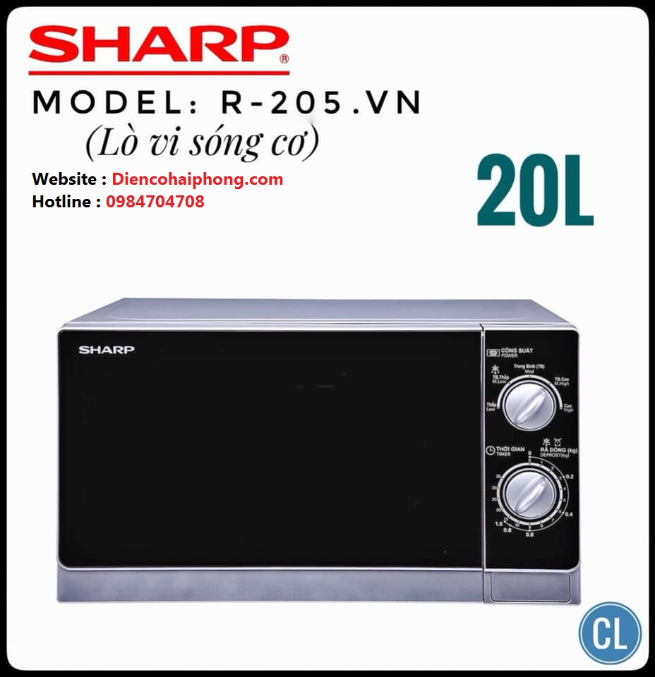 Lò vi sóng Sharp R-205VN(S) 20 lít (Khuyến Mại )