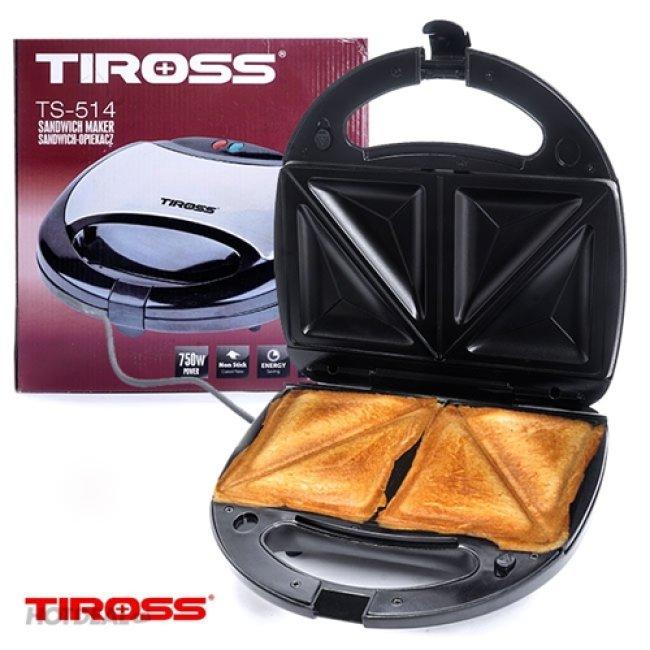 Máy Làm bánh Hot Dog, Nướng Sandwich Tiross TS514
