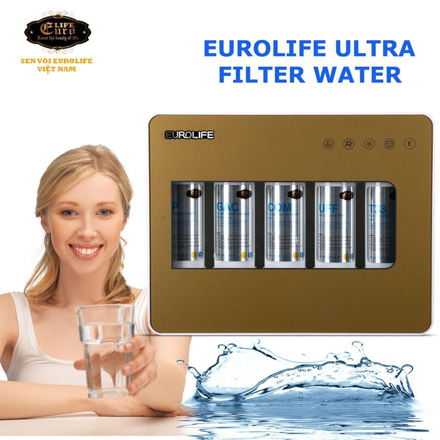 Máy lọc nước không điện Euro EL-F5 (Gold)