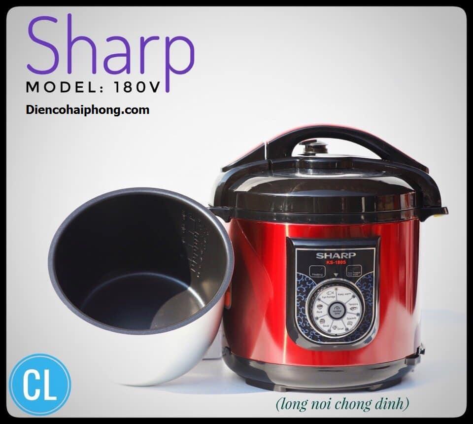 Nồi áp suất điện đa năng Sharp KS-180 Thailand