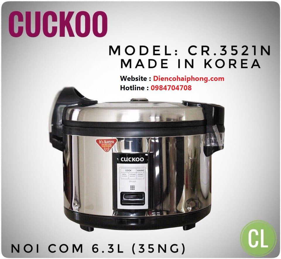 Nồi cơm điện Cuckoo CR - 3521S Inox 6.3L