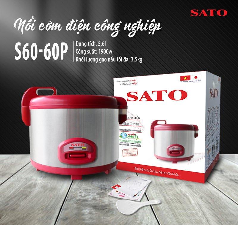 Nồi cơm điện SATO S60-60P 5.6 lít