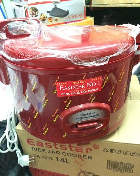 Nồi Cơm Công Nghiệp Eaststar 18 Lít Nắp Liền ( 6kg gạo )