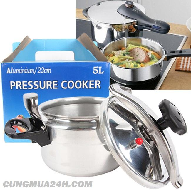 Nồi áp suất  Precooker 5l nấu được bếp từ , bếp gas