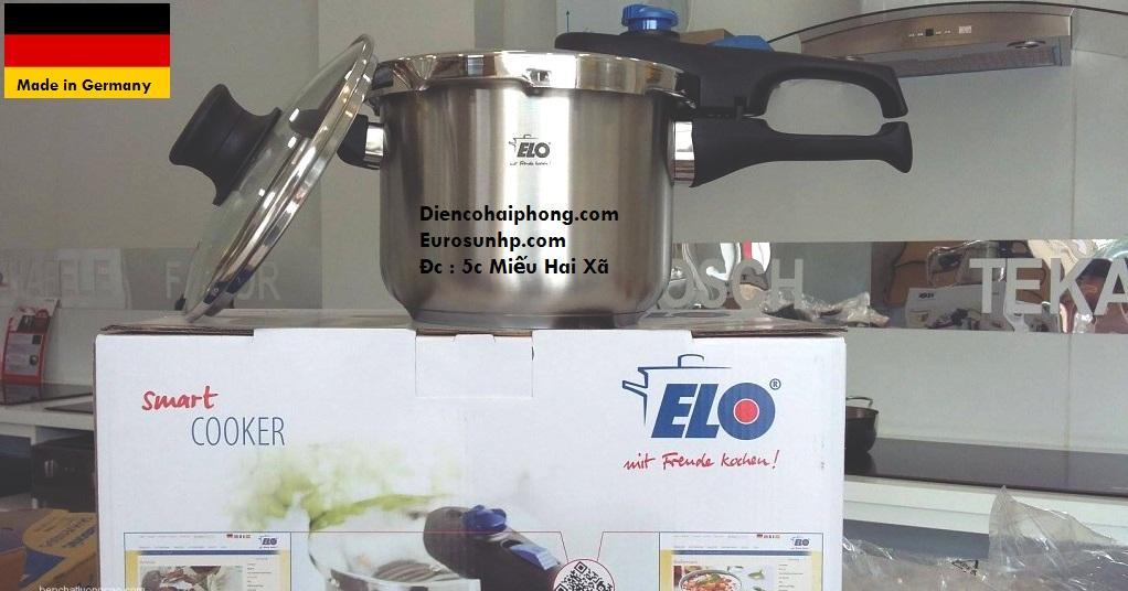 Nồi ÁP SUẤT ELO Praktika plus XL 6L - ĐỨc ( nấu được bếp từ )