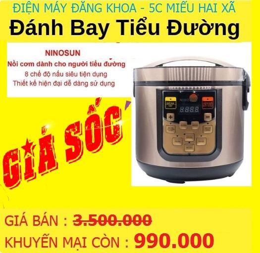 Nồi Cơm Điện Tách Đường Ninosun NNS-865 ( Kmại sốc )