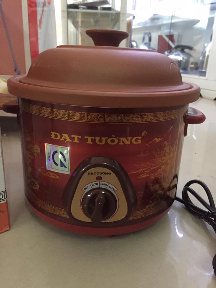Nồi nấu cháo , kho cá mầu nâu đỏ Đạt Tường 2.5l Việt nam