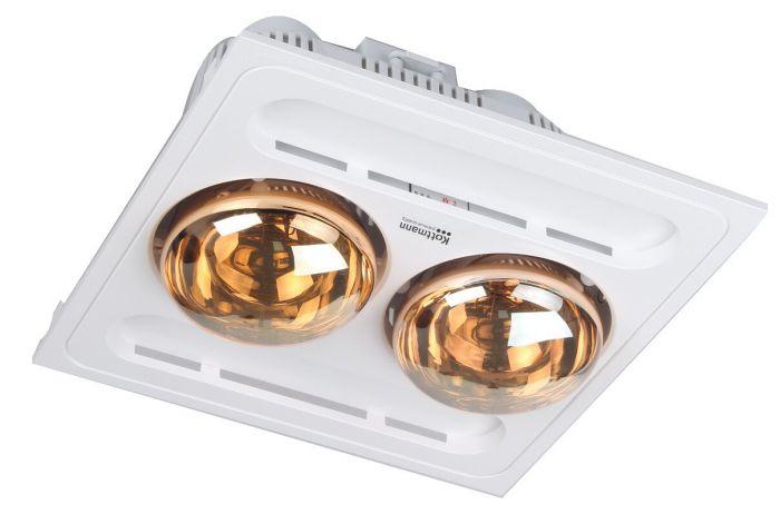 Đèn sưởi nhà tắm Kottmann 2 bóng âm trần ( chính hãng )