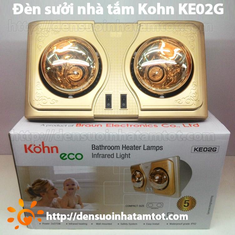 Đèn sưởi nhà tắm Kohn KE02G 2 bóng