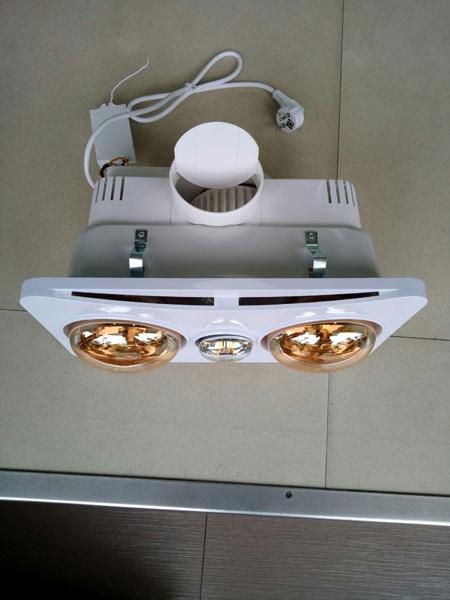 Đèn sưởi nhà tắm 2 bóng âm trần Braun Kohn BK02G