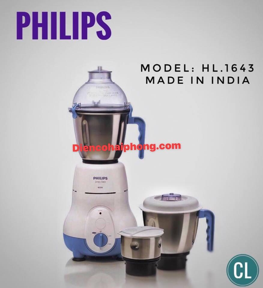 Máy xay sinh tố 600w Philips HL1643 cối inox